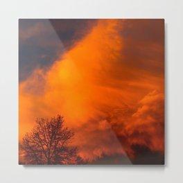 Orange Colorado Sunrise Metal Print