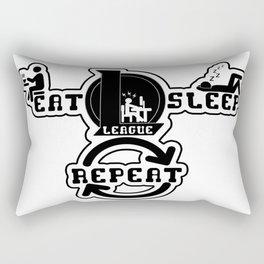 Eat Sleep League Repeat Rectangular Pillow