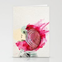 bright Stationery Cards featuring Bright Pink  by Jenny Liz Rome