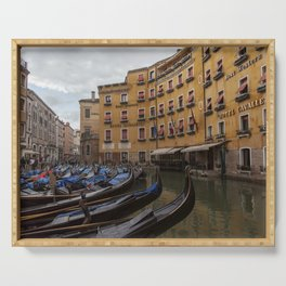 Venice. The rain Serving Tray