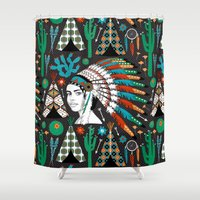 southwest Shower Curtains featuring Southwest by Vannina