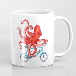 Cycling octopus Coffee Mug