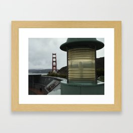 Vista Point at Sunrise - Golden Gate Bridge Framed Art Print