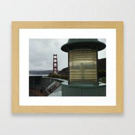 Vista Point at Sunrise - Golden Gate Bridge Framed Art Print