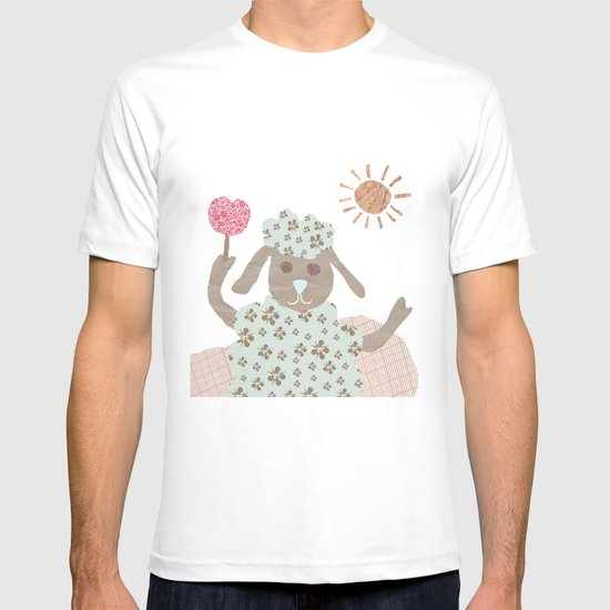 sheep collage T-shirt
