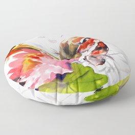 Koi Pond, feng shui koi fish art, design Floor Pillow