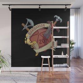 Barbarian d20 fantasy dice Wall Mural