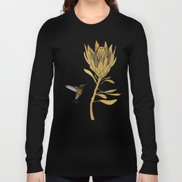 Hummingbird & Flower I Long Sleeve T-shirt