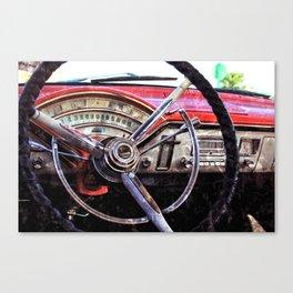 Chevy, Vintage Dashboard Canvas Print