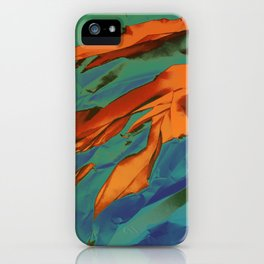 Green, Orange and Blue Abstract iPhone Case