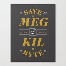 File Size Awareness Canvas Print