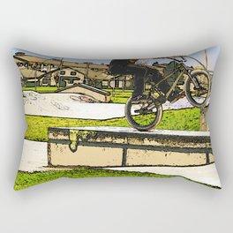 Wheelie Pro - BMX Rider Rectangular Pillow