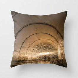Angeles Crest Spin Throw Pillow