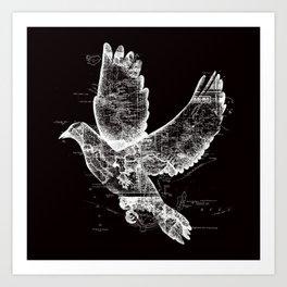 Wanderlust White Art Print