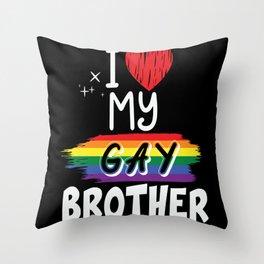 LGBT Gay Lesbian Pride Proud Love Throw Pillow