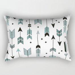 Blue arrows and crosses Rectangular Pillow