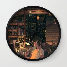Boy Original Artwork Wall Clock