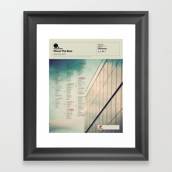 The Visual Mixtape 2010 | Planet Of Ice | 01 / 25 Framed Art Print