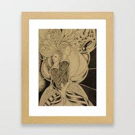 Two Together Framed Art Print