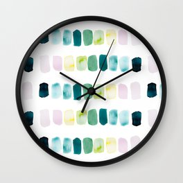 Water Color Pallet Pattern Wall Clock
