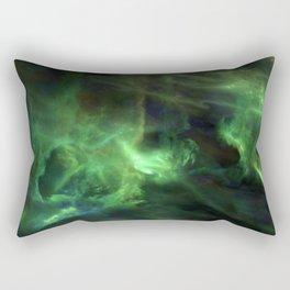 Ghostly Green Smoke Rectangular Pillow