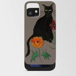 Black cat Le Chat iPhone Card Case