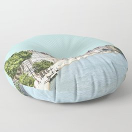 Lyon, France Travel Artwork Floor Pillow