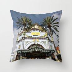 Las Palmas Cafe Throw Pillow
