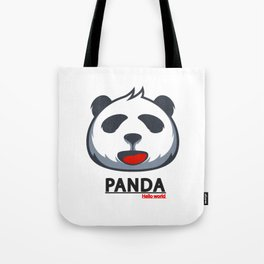 PANDA HELLO WORLD funny design Tote Bag