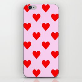 love heart pattern pink and red iPhone Skin