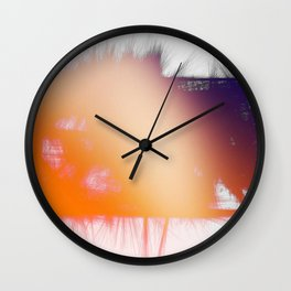 Orange Cream Wall Clock