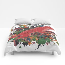 dream of red wolf Comforters