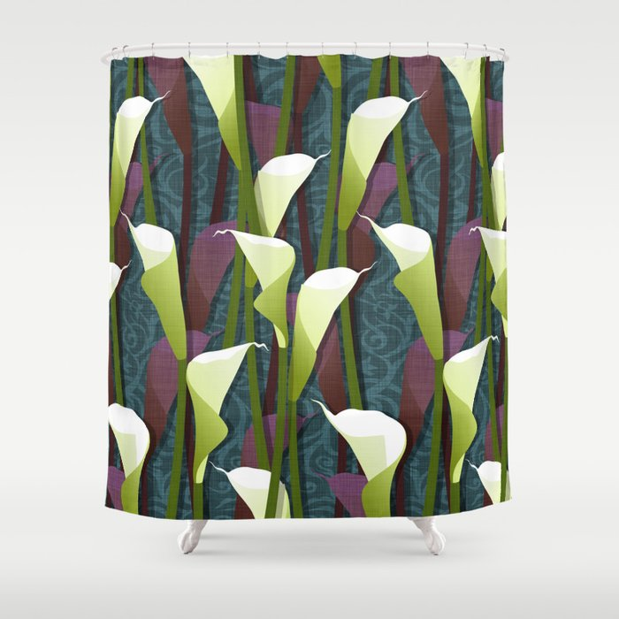 Attrayant Calla Lily Shower Curtain