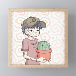 Cactus Gal Framed Mini Art Print