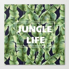 JUNGLE LIFE-banana leaves Canvas Print