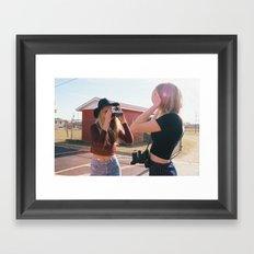 Way Back Sisters Framed Art Print
