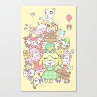 animal crossing Canvas Prints featuring Animal Crossing (yellow) by Siri