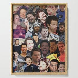 Misha Collins Collage Serving Tray