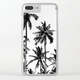 Palms, Tropical, Nature, Scandinavian, Minimal, Trendy decor, Interior, Wall art Clear iPhone Case