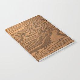 Wood 5, heavily grained wood Horizontal grain Notebook