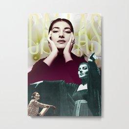 Maia Callas Collage Portrait I Metal Print