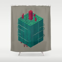 Within the Maze Shower Curtain