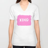 xoxo V-neck T-shirts featuring xoxo by Social Proper