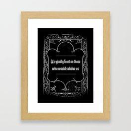 Addams Family Credo Framed Art Print