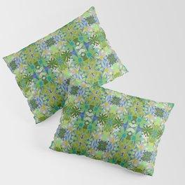 Garden Party - moss and mint Pillow Sham