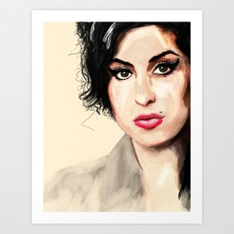 Amy - A tribute to Miss Winehouse Art Print