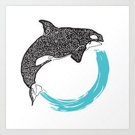 Orca Circle Art Print