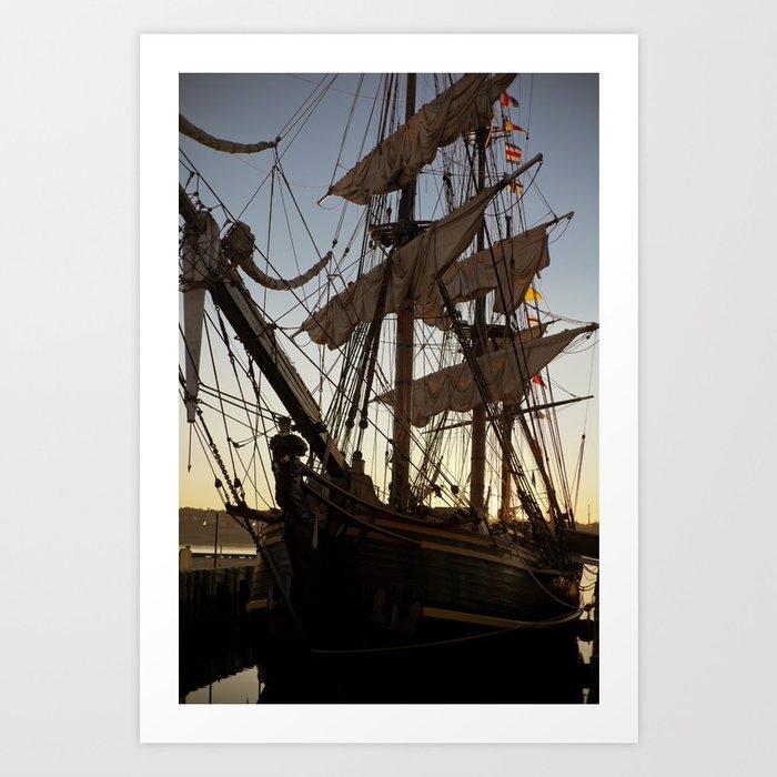 HMS Bounty Bow Art Print