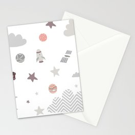 space galaxy clouds Stationery Cards