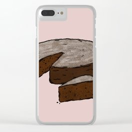 W is for Wacky Cake Clear iPhone Case